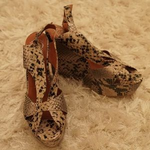 Jeffrey Campbell Faux Snake Wedges